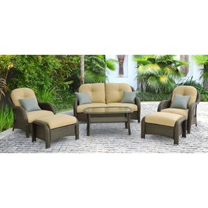 Hanover  Newport  6 pc. Antique Grey  Steel  Set  Cream