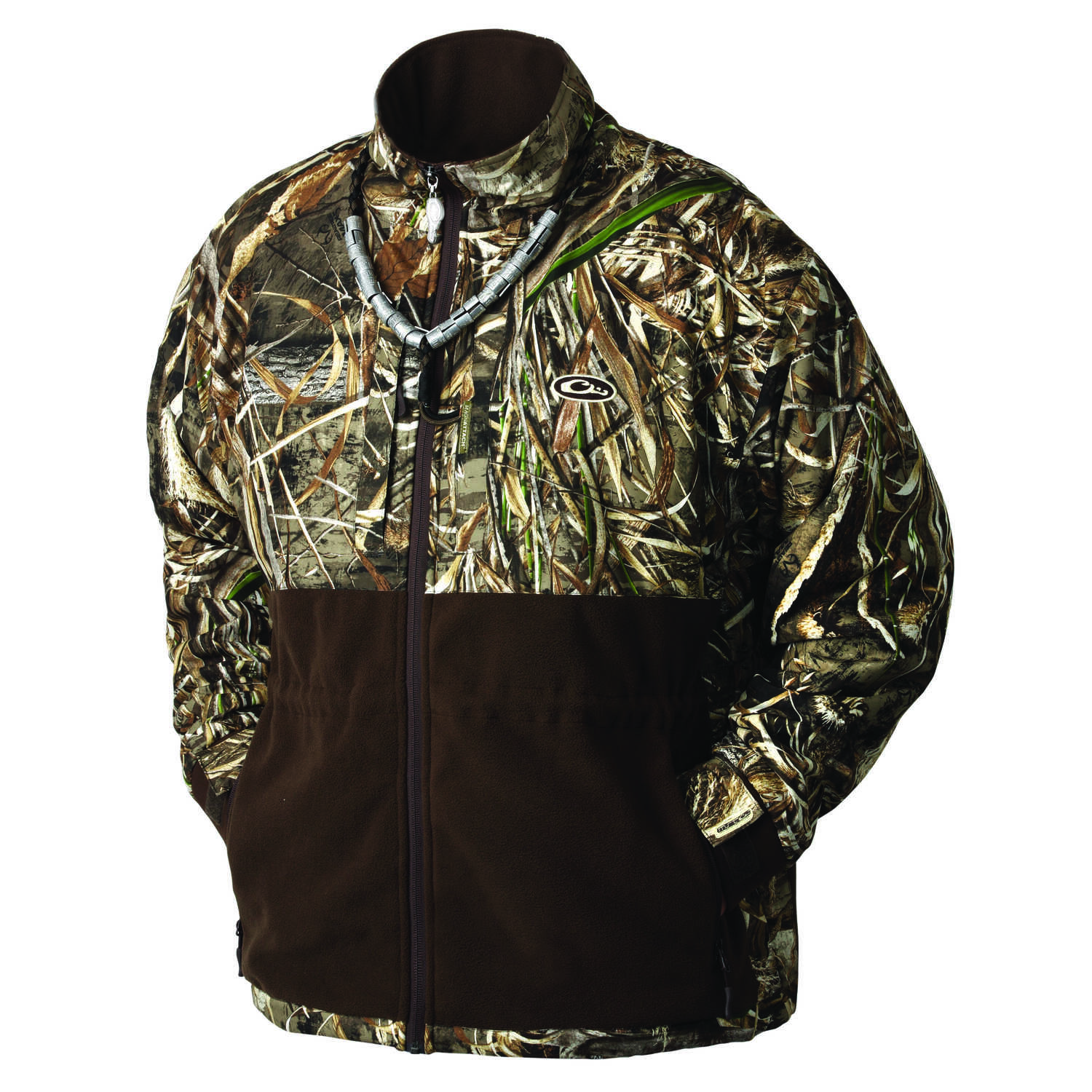 Drake  MST Eqwader  M  Long Sleeve  Men's  Full-Zip  Jacket  Realtree Max-5