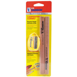 C.H. Hanson VersaSharp 8.8 in. L x 4.2 in. W Carpenter Pencil Kit Beige Wood 3 pc.