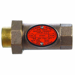 Cash Acme  3/4 in. Dia. Bronze  Backflow Preventer