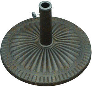 Bond Manufacturing  Bronze  21.5 in. W x 13.58 in. H x 21.5  L Envirostone  Umbrella Base