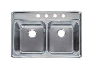 Franke  Stainless Steel  Top Mount  33-1/2 in. W x 22-1/2 in. L Kitchen Sink