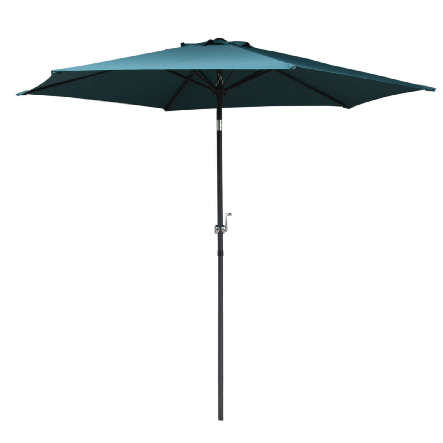 Living Accents  Cortland  9 ft. Tiltable Peacock Blue  Market  Umbrella