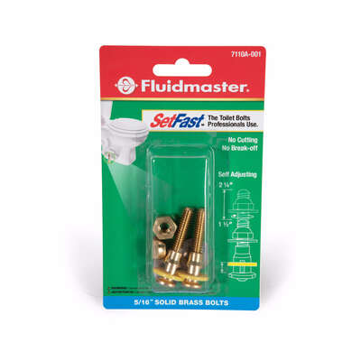 Fluidmaster SetFast Toilet Bolts Set Brass