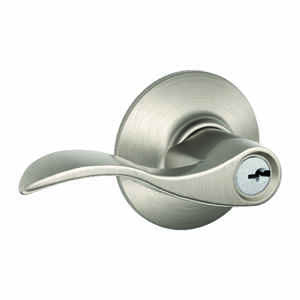 Schlage  Accent  Satin Nickel  Steel  Entry Lockset  ANSI Grade 2  1-3/4 in.