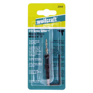 Wolfcraft  4.5 mm Dia. Steel  Tapered  Screw Setter  1/4 in. Hex Shank  1 pc.