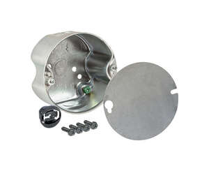 Raco  Round  Steel  4-1/4 in. Gray  Fan Box  1 Gang