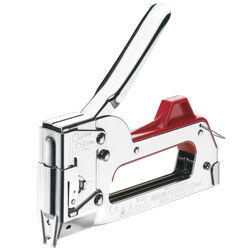 Arrow Fastener 5/16 in. Flat, Round Stapler and Tacker Red/Silver