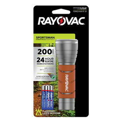Rayovac  Sportsman Essentials  200 lumens Orange  LED  Flashlight  AAA Battery