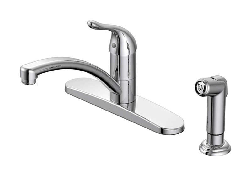 Oakbrook Pacifica Single Handle Kitchen Chrome Kitchen Faucet Side