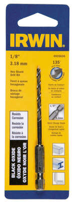 Irwin  1/8 in.  x 3-1/2 in. L High Speed Steel  Drill Bit  1 pc.