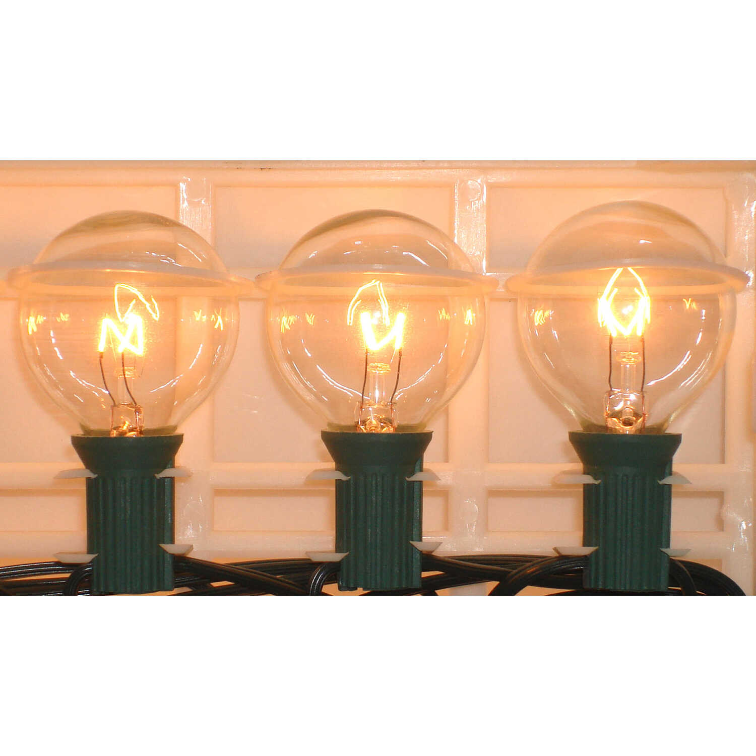 Living Accents  Incandescent  Globe  Light Set  19 ft. Clear  Warm White