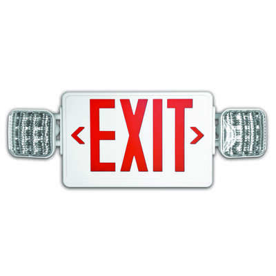 Howard Lighting  Polycarbonate  Indoor and Outdoor  LED  Lighted Exit Sign and Emergency Lights