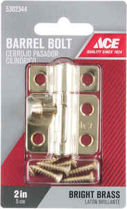Ace  0.62 in. L Brass  Barrel Bolt  1 pk