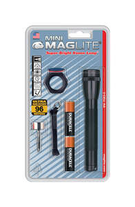 Maglite  Mini  14 lumens Black  Incandescent  Flashlight  AA