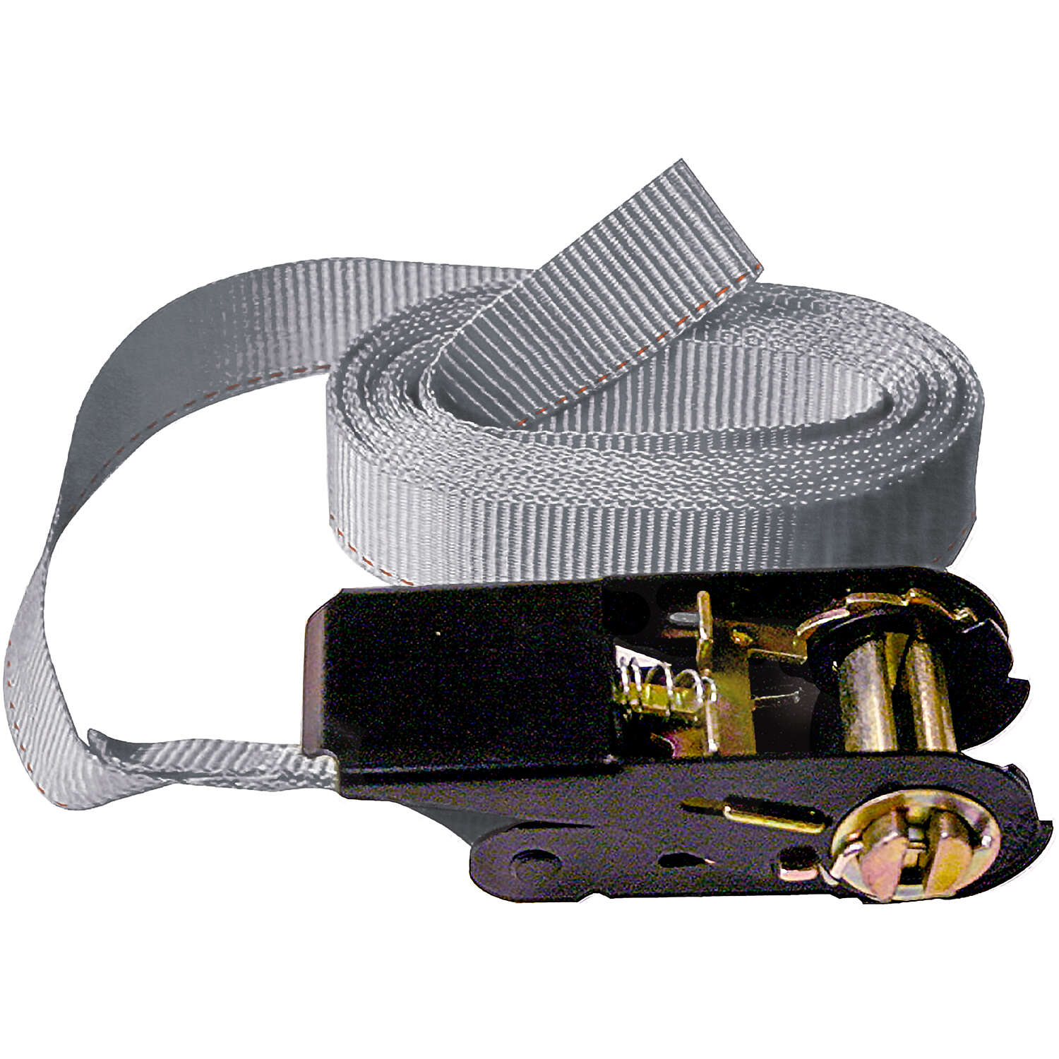 Keeper  1 in. W x 13 ft. L Gray  Tie Down w/Ratchet  400 lb. 1 pk
