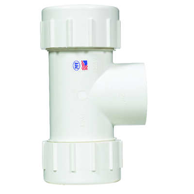 NDS  Schedule 40  2 in. Compression   FPT  PVC  Tee