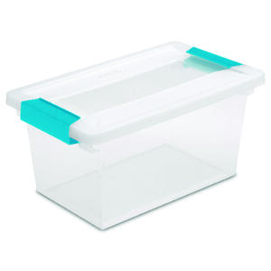 Sterilite  5.375 in. H x 6.625 in. W x 11 in. D Stackable Clip Storage Box