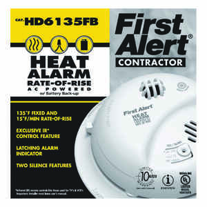 First Alert  Hard-Wired with Battery Back-up  Ionization  Heat Alarm