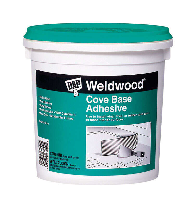 DAP  Weldwood  High Strength  Synthetic Acrylic Latex  Cove Base Adhesive  1 qt.