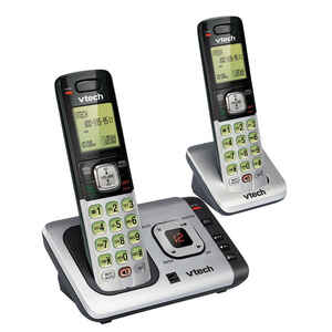Vtech  Digital  Cordless Silver  Telephone  Built In Answering Machine 2 Number of Handsets