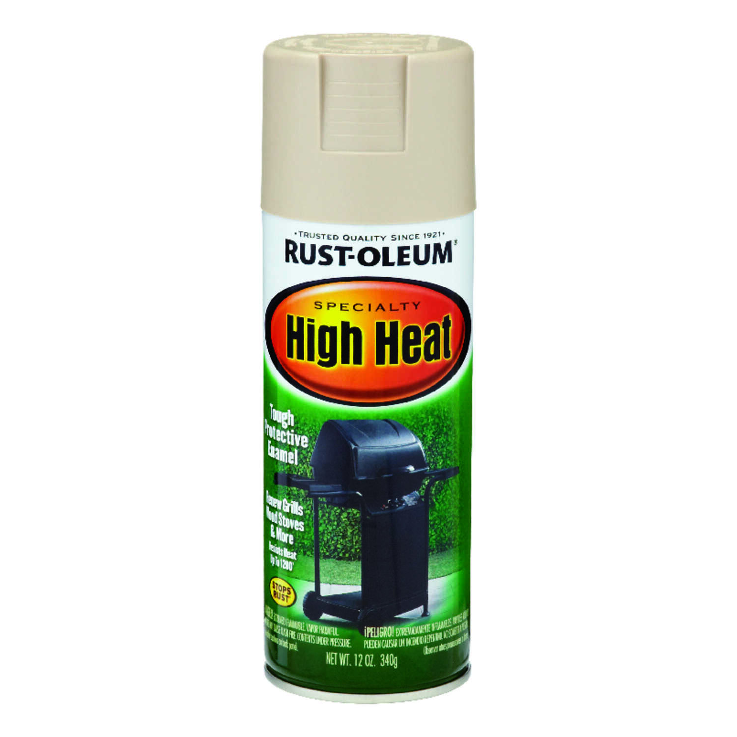 Rust-Oleum  Stops Rust Specialty  Satin  Almond  Spray Paint  12 oz.