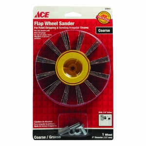 Ace  5 in. Dia. x 1/4 in.   Aluminum Oxide  Flap Wheel  50 Grit Coarse  1 pk