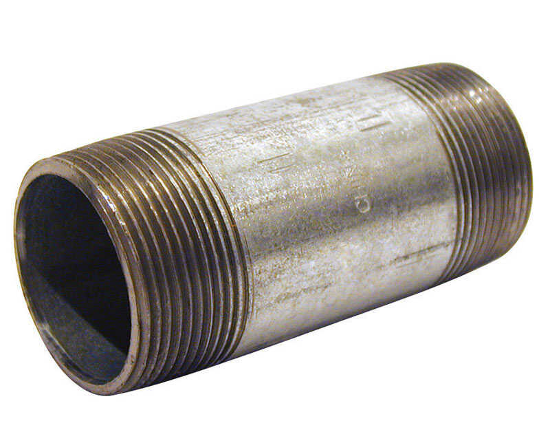 Mueller  Southland  2 in. MPT   x 2 in. Dia. MPT  Galvanized  Steel  Pipe Nipple