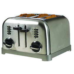 Cuisinart  Stainless Steel  Silver  4 slot Toaster  7.4 in. H x 11.14 in. W x 10.67 in. D