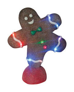 Design House  Gingerbread Man  Christmas Decoration  Brown  Resin  1 each
