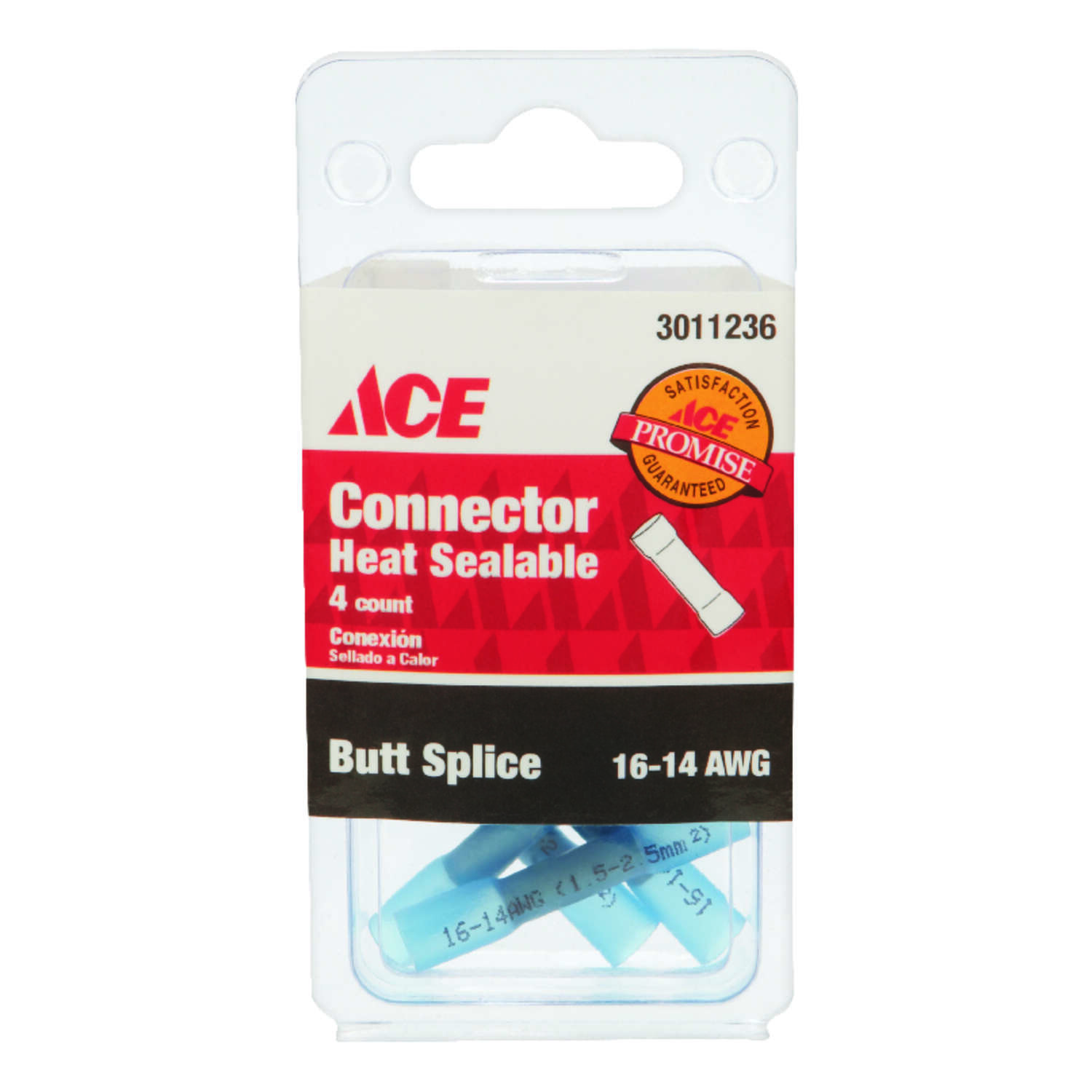 Ace  Butt Connector  Blue  4 pk