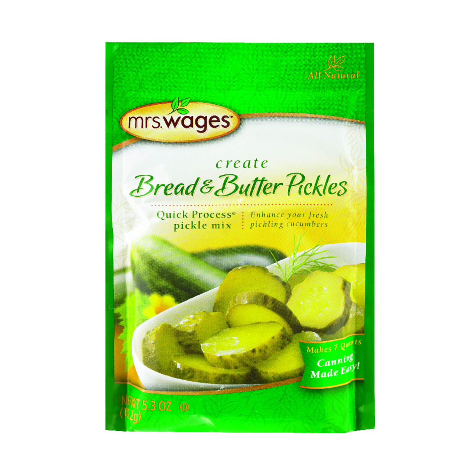 Mrs. Wages  Bread and Butter Pickle Mix  5.3 oz. 1 pk