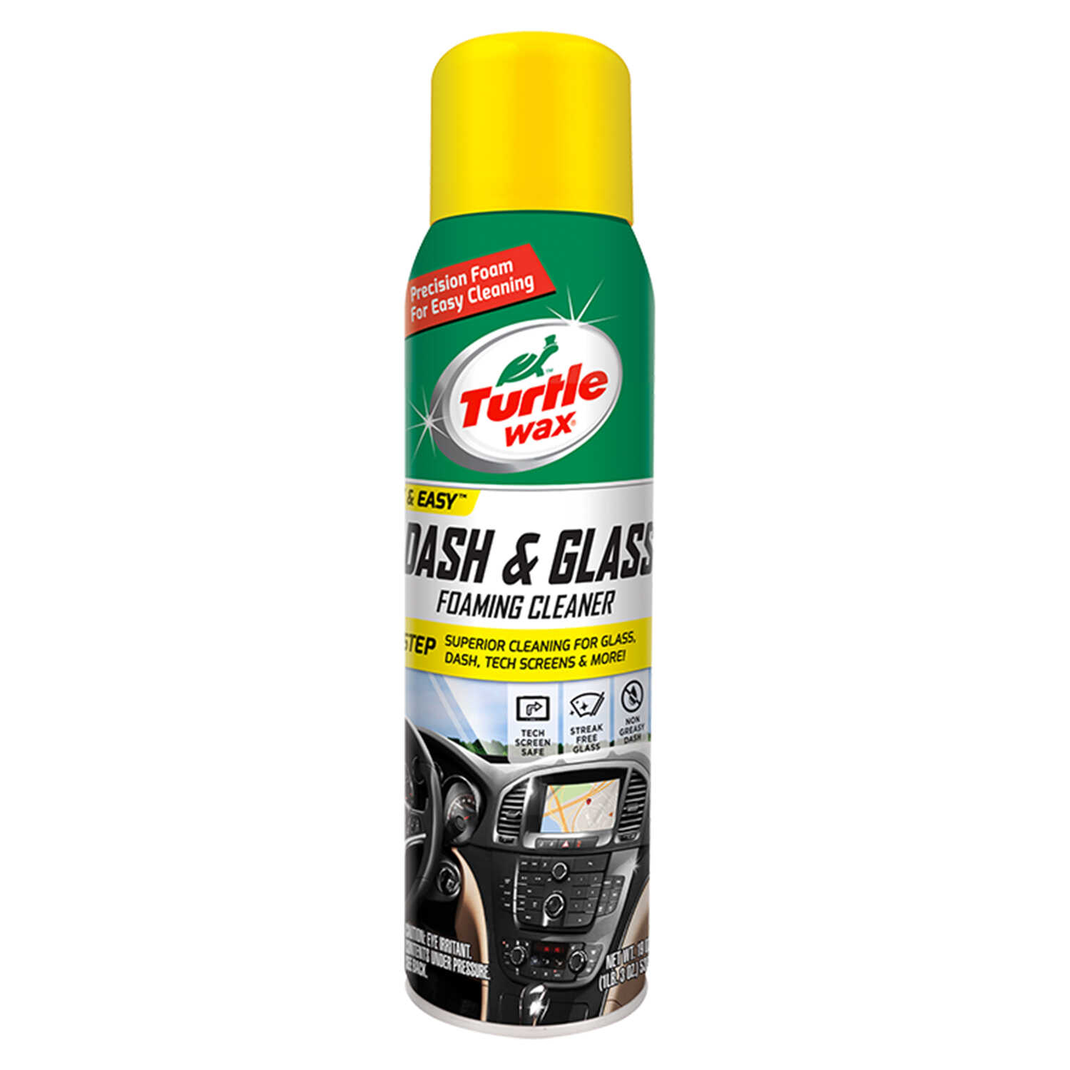 Turtle Wax  Dash & Glass  Glass/Metal/Plastic  Cleaner/Conditioner  19 oz. Can  1 pk