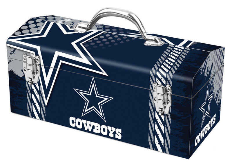 Sainty International  16.25 in. Steel  Dallas Cowboys  Art Deco Tool Box  7.1 in. W x 7.75 in. H