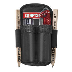 Craftsman 2 pocket Polyester Tool Pouch 4.25 in. L x 9 in. H Black