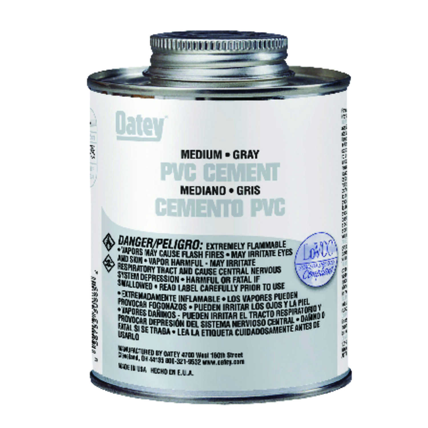 Oatey  Gray  Cement  For PVC 16 oz.