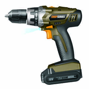 Rockwell  ShopSeries  18 volt Brushless  Kit  3/8 in. 1200 rpm Cordless Drill/Driver