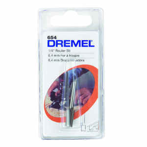 Dremel  1/4 in. Dia. x 1/4 in.  x 2-1/4 in. L High Speed Steel  1-Flute Straight  Router Bit