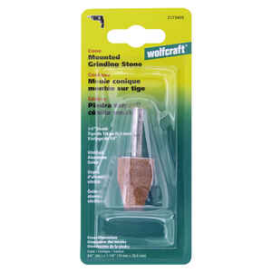 Wolfcraft  3/4 in. Dia. x 1-1/8 in. L Vitrified Aluminum Oxide  Cone  Conical Grinding Point  1 pc.