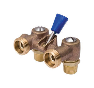 Proline  MPT   MPT  Brass  Dual Washing Machine Shut Off Valve