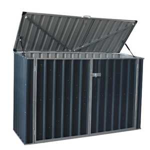 Build-Well  51 in. H x 77 in. W x 38.4 in. D Gray  Outdoor Storage Shed  Steel