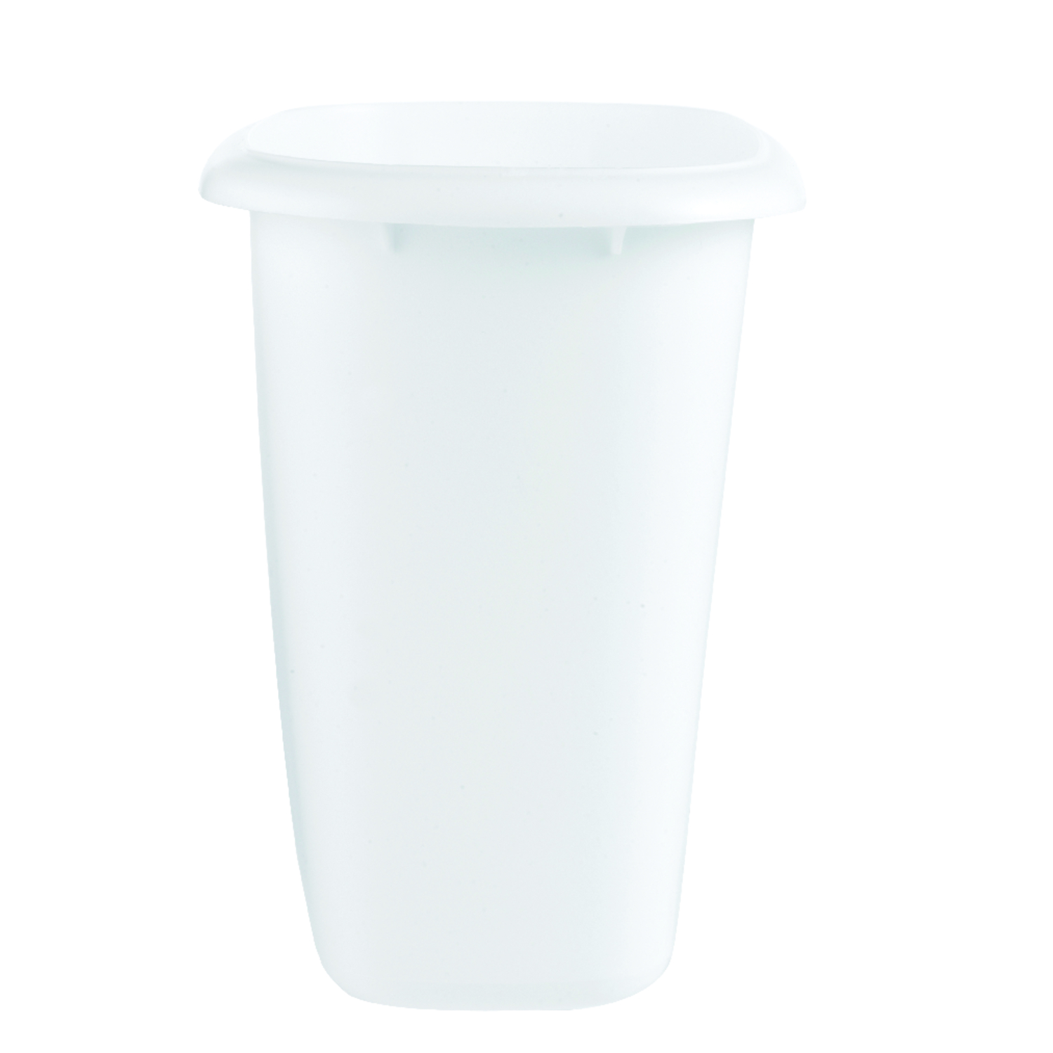 Rubbermaid  6 qt. White  Oval  Wastebasket
