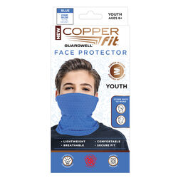 Copper Fit  Youth Blue  Face Protector  1 pk