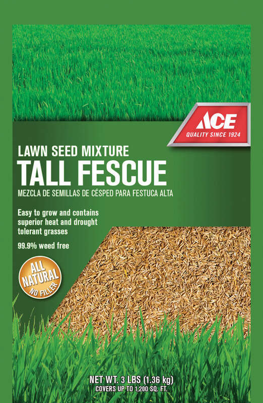 Ace  Tall Fescue  Sun/Shade  Lawn Seed Blend  3 lb.