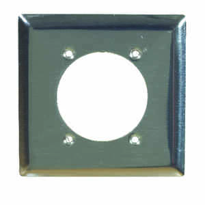 Pass & Seymour  White  2 gang Steel  Wall Plate  1 pk