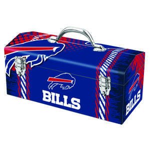 Sainty International  Buffalo Bills  16.25 in. NFL  Steel  7.75 in. H x 7.1 in. W Art Deco Tool Box