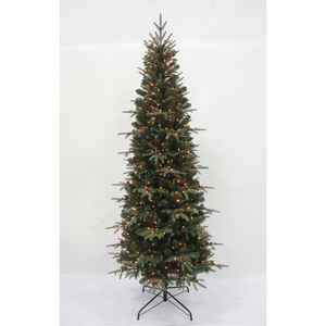 Celebrations  Prelit Multicolored  Lexington  Slim Artificial Tree  400 lights 1383, 903 PE tips 7 f