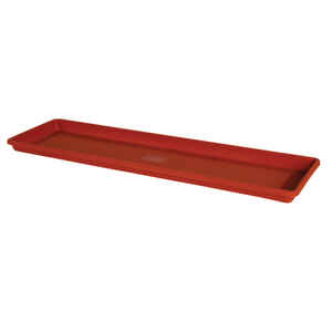 Bloem  Terrabox  1.2 in. H x 5.4 in. W Terracotta Clay  Resin  Traditional  Tray