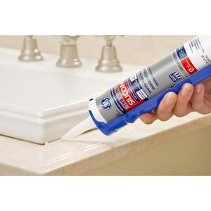 GE  Silicone 1  White  Silicone 1  Tub and Tile  Caulk  10.1 oz.