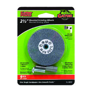Gator  2-1/2 in. Dia. x 3/8 in. thick  x 1/4 in.   Grinding Wheel  1 pc.